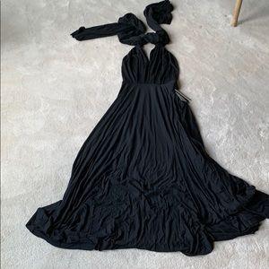 Lulu's Black Maxi Dress